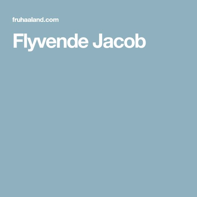 Flyvende Jacob