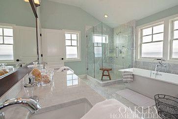 Long Beach - beach style - bathroom - chicago - Oakley Home Builders HM: jars with ocean stuff in them