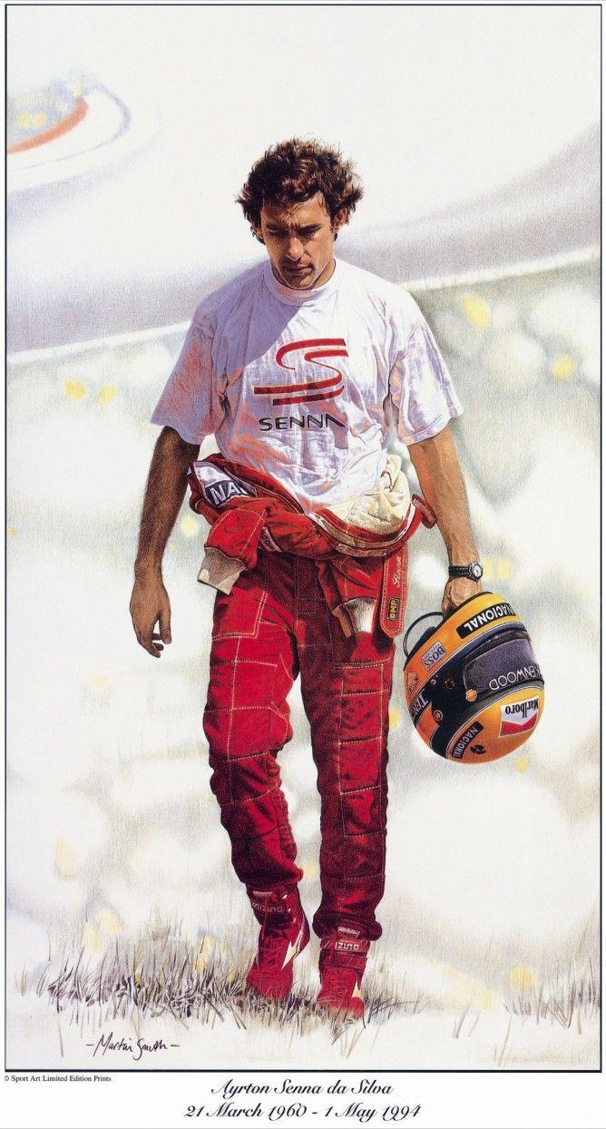 Ayrton Senna da Silva(A beautiful potrait by Martin Smith)