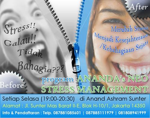 #Galau #Stress Solusi : #Meditasi ~ ANANDA's NEO STRESS MANAGEMENT