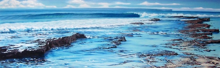 Sailors Beach Huskisson painting by Clayton Campion