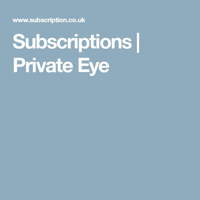 Subscriptions | Private Eye
