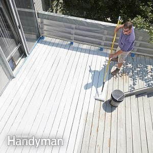 Is your old deck looking its age? Coat it with acrylic deck restoration paint.