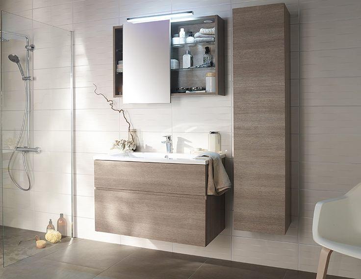 Les 25 meilleures id es concernant salle de bains - Meuble de rangement salle de bain castorama ...