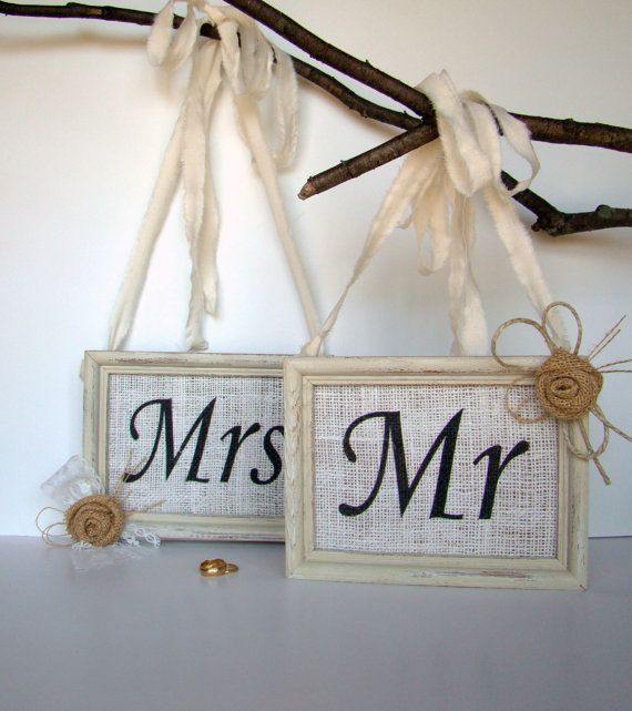 Mr And Mrs Wedding Signs Photo By TwiningVines 4000
