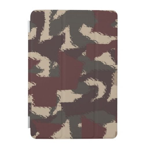 Abstract Military Camouflage Pattern iPad Mini Cover #fomadesign