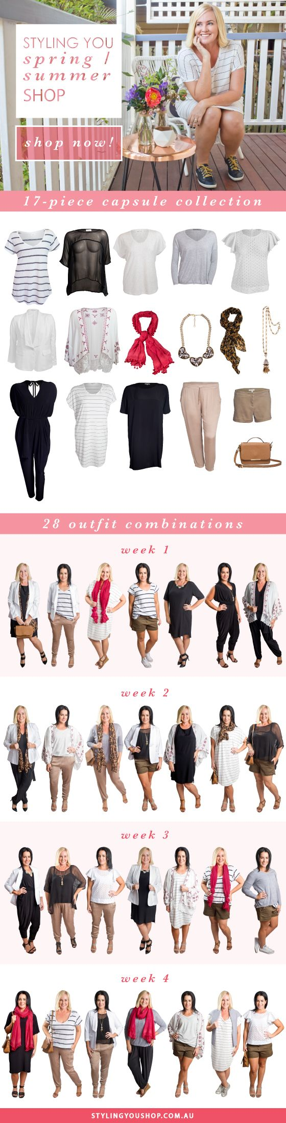 17 pieces   28 different outfit combinations   spring-summer 2015