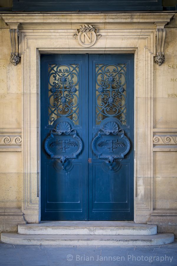 Ornate door at Musee du Louvre, Paris France. © Brian Jannsen Photography