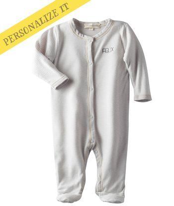 Baby Unisex Softest Footed One-Piece - Warm Gray | Hallmark Baby Clothes
