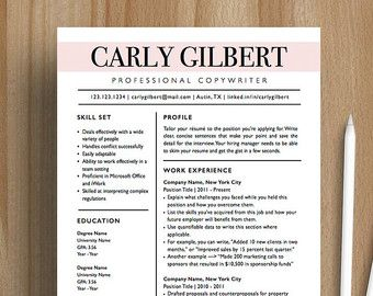 Best Etsy Resume Template Images On   Resume Design