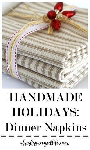 Handmade Holidays: Dinner Napkins // A Fresh Squeezed Life