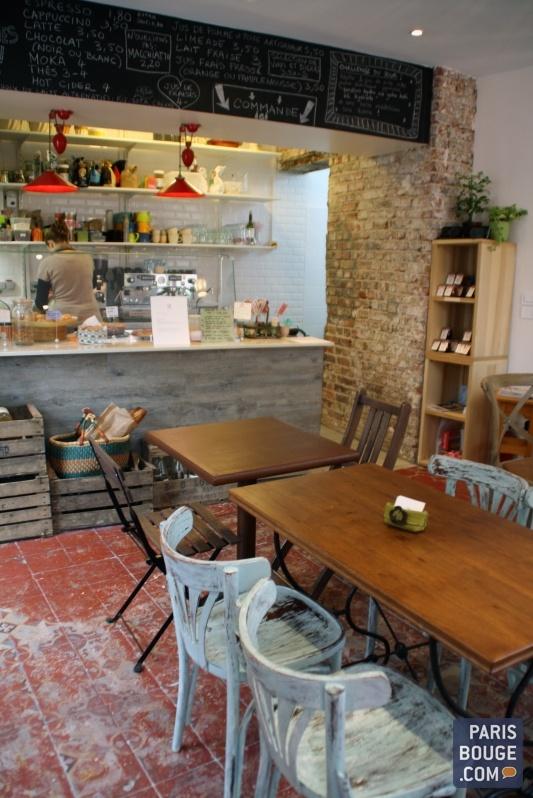 Restaurant Soul Kitchen Salon de thé, pâtisseries, Tartes, salades, soupes, smoothies, Biocool, brunch 33, rue Lamarck Paris 18ème