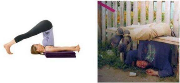 Fotos de borrachos chistosos: Drunken Yoga, Funnies Pictures, Halasana Excel, Funnies Humor, Yoga Positive, Yoga Poses, Funnies Images, Funnies Stuff, Funnies Meme