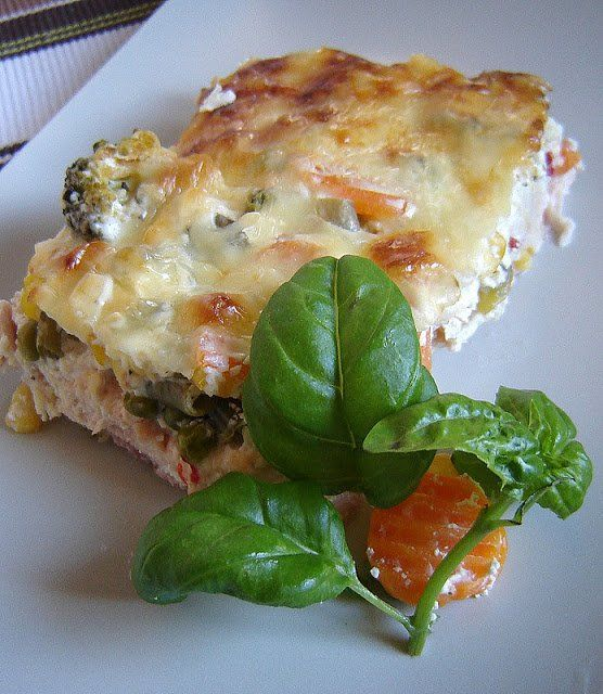 Zöldséges rakott csirkemell