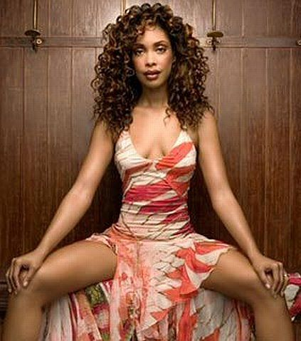 Gina Torres. Slinky dress: Zoe tested, Wash approved.