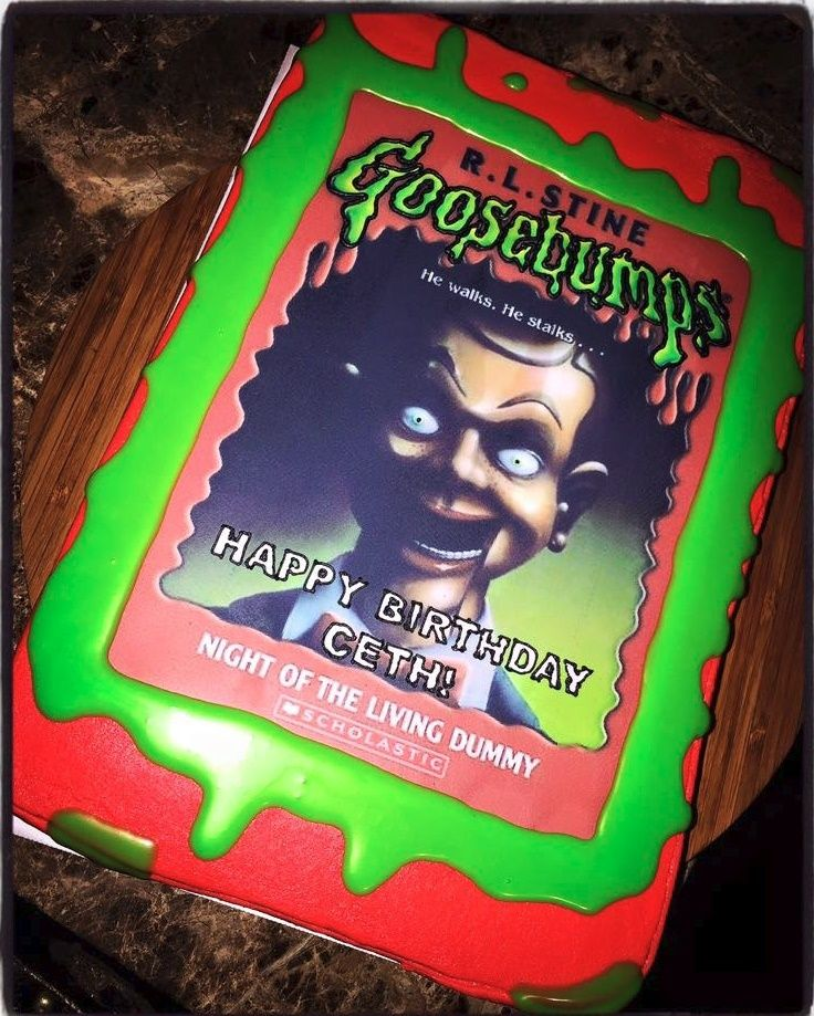 Goosebumps Slappy Night Of The Living Dummy Edible Cake