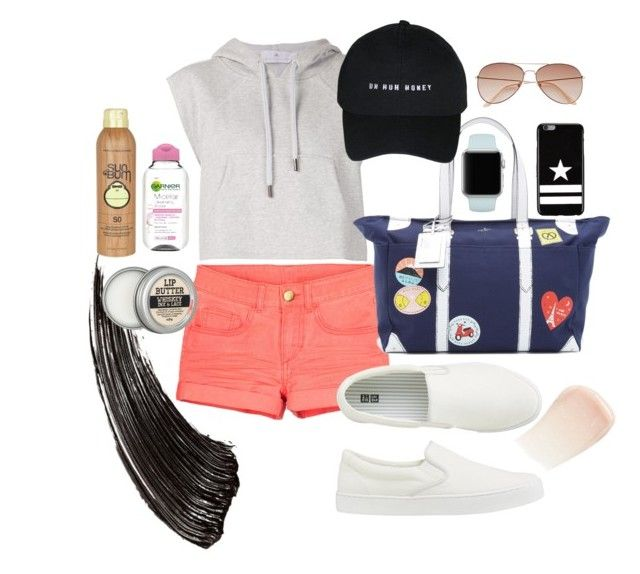 Untitled #24 by lauralionels on Polyvore featuring polyvore fashion style adidas Uniqlo Kate Spade Givenchy H&M By Terry Garnier Sun Bum clothing