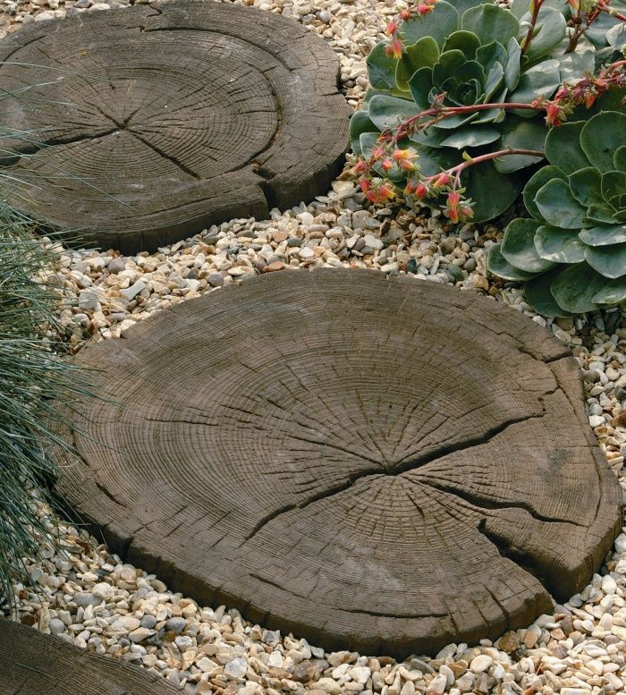 Good Stonemarket Wood Effect Log Stepping Stones For Garden Paths  #GardenSteppingStones #WoodEffectPaving
