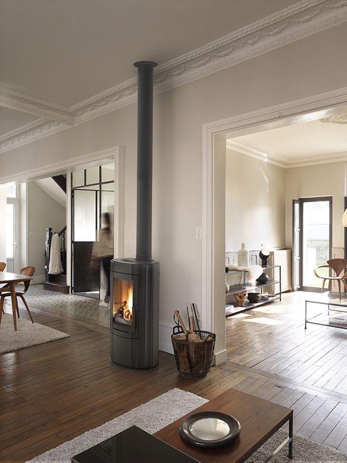 Invicta Ludia Tall Contemporary Wood Burning Stove Fire Burner Multi Fuel New
