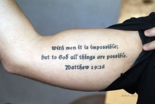 If we wanna tattoo the word of god anywhere it should be for Never fade tattoo