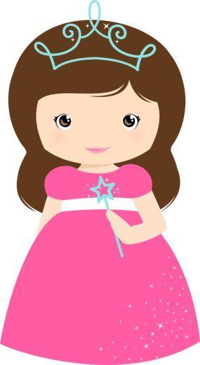 Princesa com varinha castanho | #daJuuh: