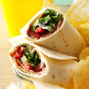 BLT Recipes from Taste of Home, including BLT Tortillas Recipe