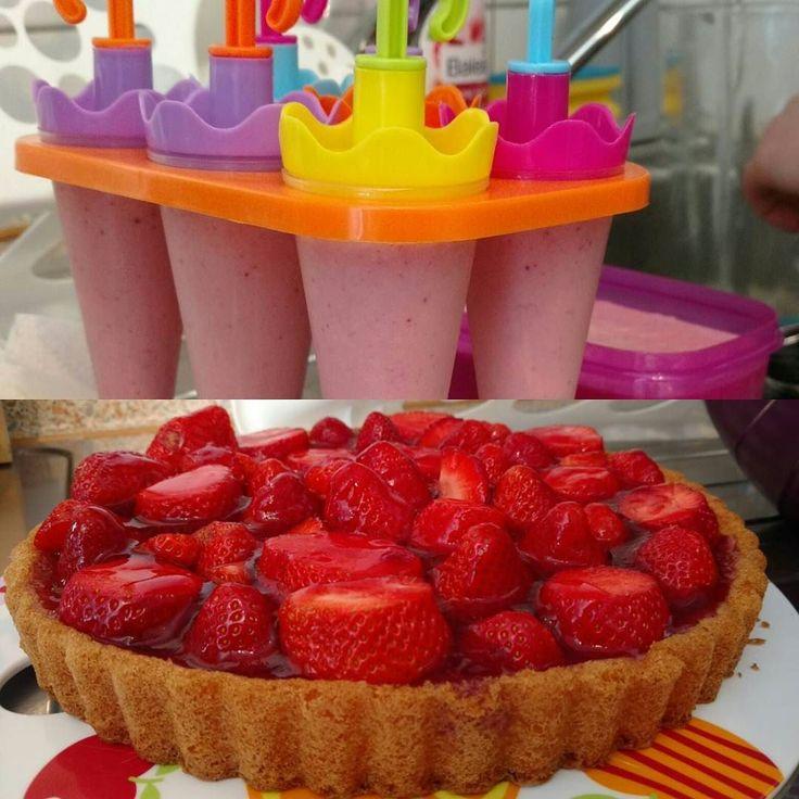 #sommer #erdbeeren #selbstpflücken  #eis #erdbeerkuchen