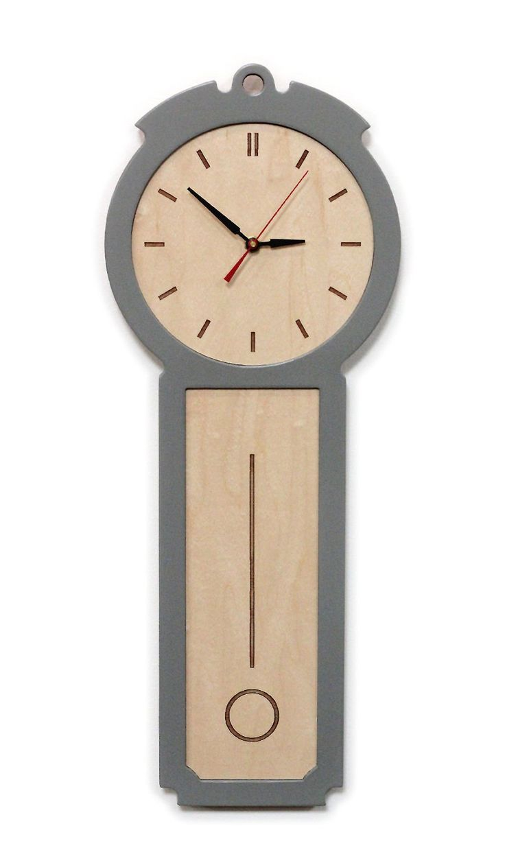 Kitchen Wall Clock   The Colonial   Chic Modern Wood Wall Clock By Uncommon  On Etsy Design Inspirations