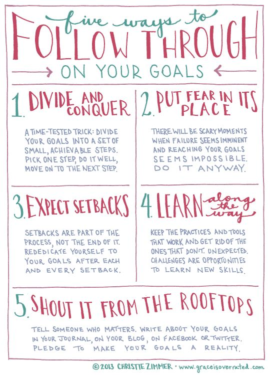 5 Ways to follow through on your goals