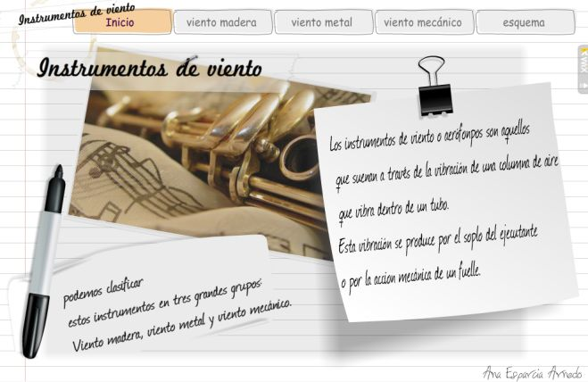 Wix sobre los Instrumentos de Viento | Recursos Musicales
