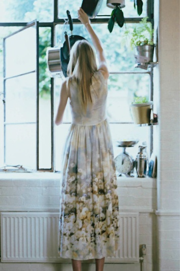 Dandelion print dress by Paul Smith #spring2014 #maxidress