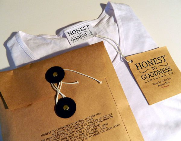 This Honest To Goodness Clothing Packaging is Rustic and Eco-Friendly #branding trendhunter.com