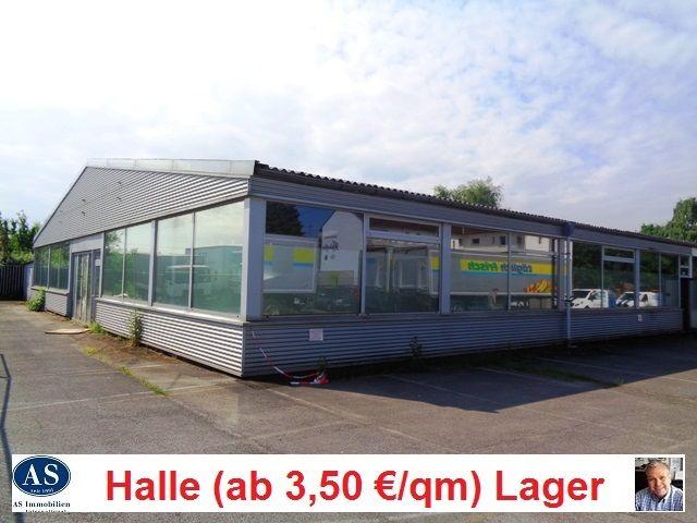Halle & Lager & Werkstatt.,  in 46047 Oberhausen, Gewerbefläche ca. 1750 qm (ab 125 qm teilbar) ab 3,50 Euro pro qm zu vermieten!  http://www.as-makler.de/html/46047_oberhausen_hallen_und_la.html