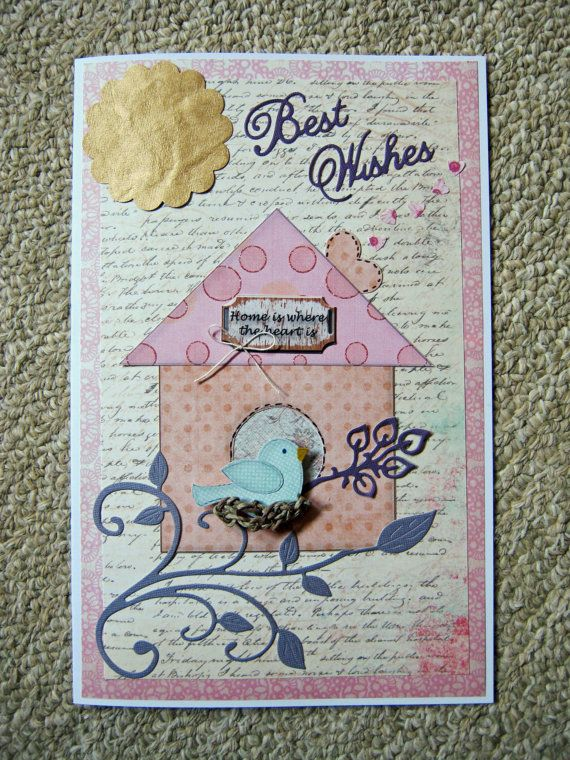New Home Congratulations and Best Wishes Card by littledebskis, $5.25