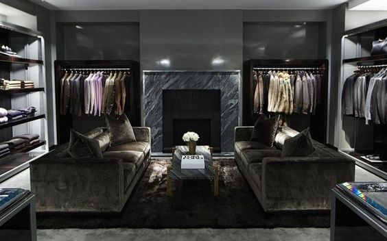 Tom Ford Flagship | Retail Interior Design, Retail Design #luxuryretailstores #retailfurniture #retailinteriordesign See more retail projects http://brabbucontract.com/projects