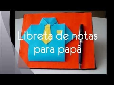 Si aún no saben qué regalarle a papá en si día, les proponemos esta sencilla y práctica libreta de notas ;)