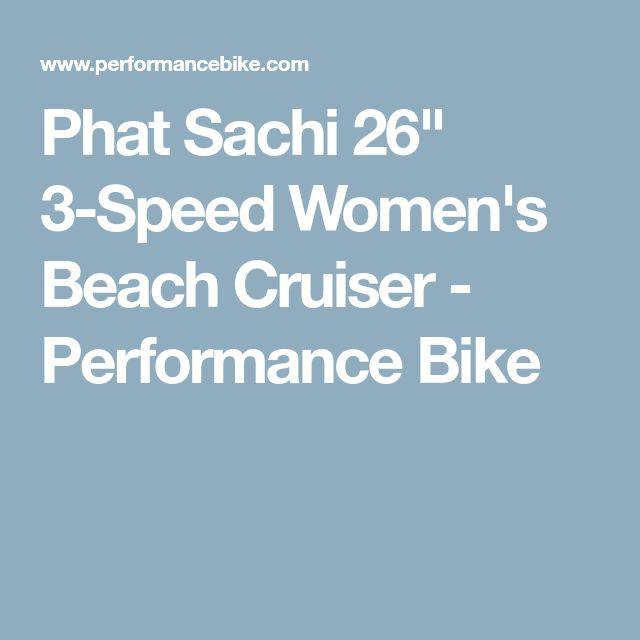 """Phat Sachi 26"""" 3-Speed Women's Beach Cruiser - Performance Bike"""