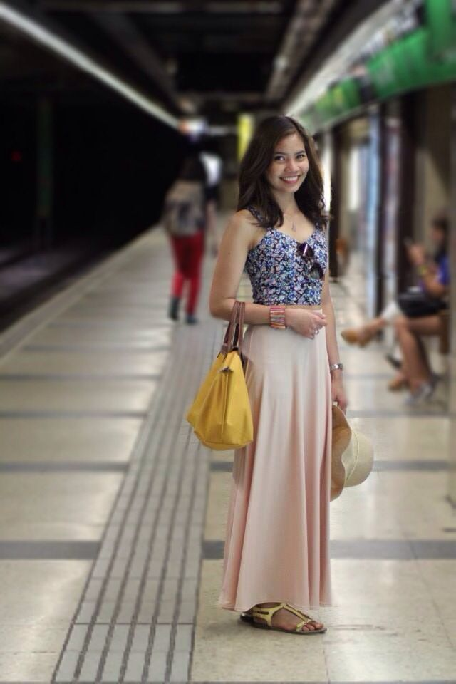 Spring fashion- Maxi skirt & a cropped top