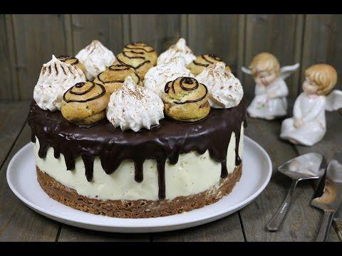 "Торт с профитролями ""Шоколадные облака"" - YouTube"