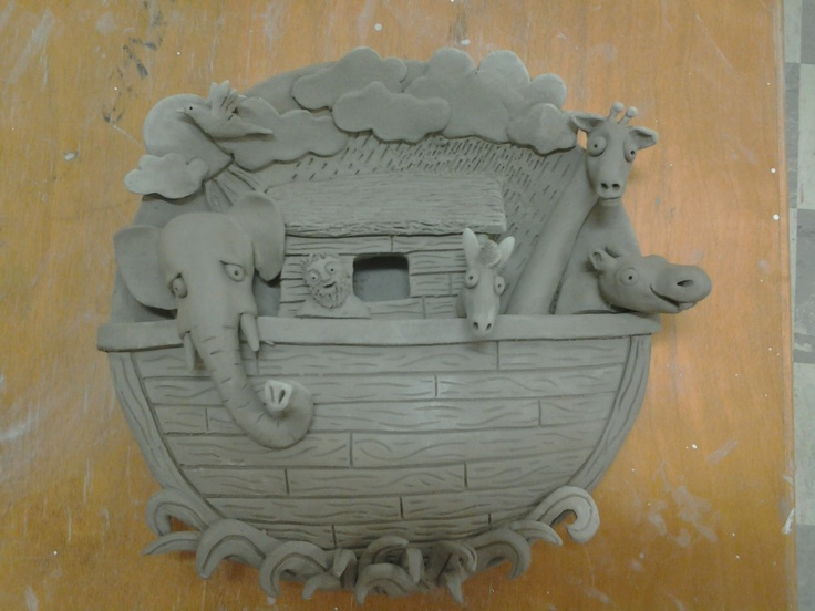 Students looked at the art work of David Stabley.  They were then asked to create a plate which tells a story from a favorite childhood book/nursery rhyme through relief sculpture and handbuilding techniques. clay bas relief sculpture
