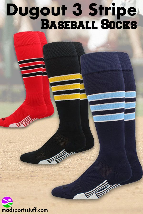 Dugout 3 Stripe Baseball Socks Baseball Socks Socks Softball Socks