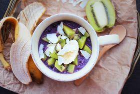 happyfoodstories: Superfrokost: Morgenfrisk havre-chia-blåbærgrøt