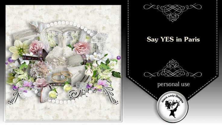 Say YES in Paris - kit by Black Lady Designs