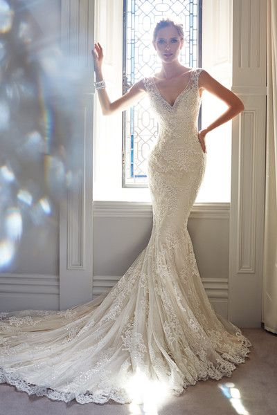 Here's a show stopper! If it were strapless (top ended where the shear straps start) it'd be perfect!!!!
