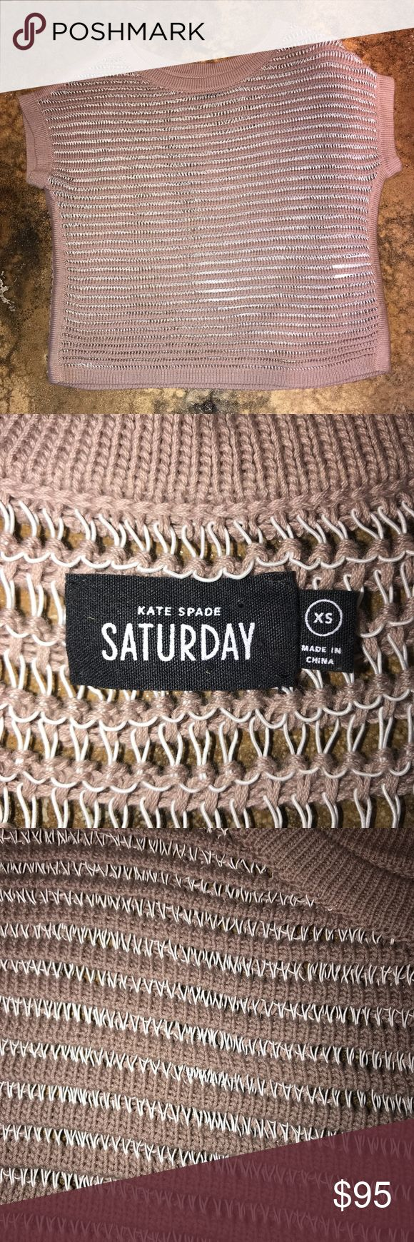 Kate Spade SATURDAY loose cabel knit sweater Kate Sapde SATURDAY loose cabel knit sweater. Absolutely gorgeous taupe and white knit sweater. Excellent condition! Retail was $375!!! Kate Spade Sweaters