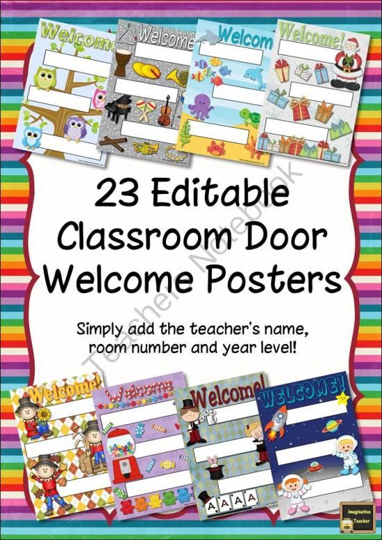 Classroom Visitor Ideas ~ Welcome poster classroom door and on pinterest