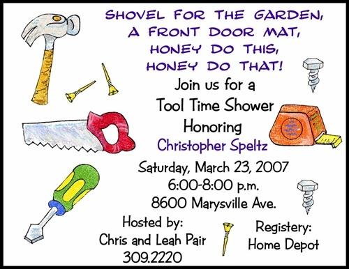 Tool Honey Do Bridal Shower Invitation