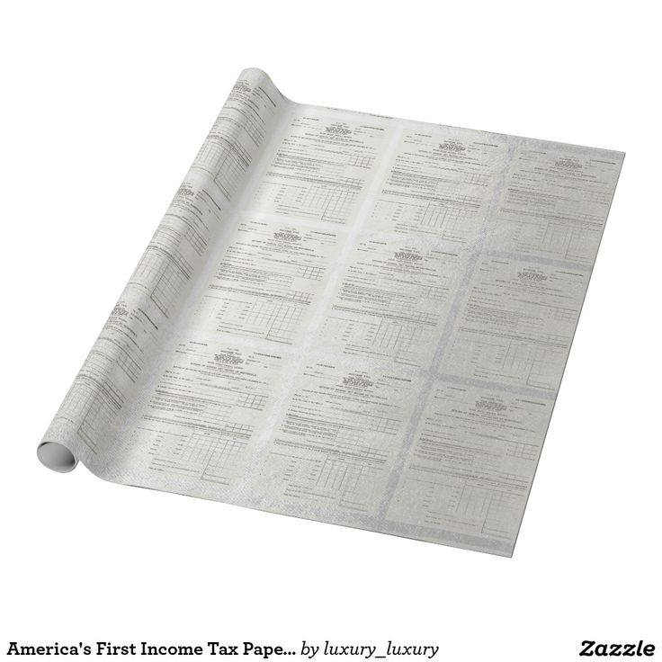 America's First Income Tax Paper Silver Wrapping Paper