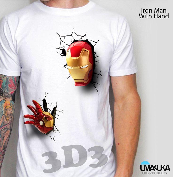 Kode: Iron Man Hand - bahan cotton combed 24s - sablon DTG (sablon masuk ke serat kain) - Pilihan warna: bisa semua warna kaos - preorder - Tersedia ukuran baby, kids, male, female - Tersedia untuk lengan panjang, lengan raglan, lengan pendek . Pemesanan hubungi: - SMS/ WA: 08990303646 - BBM: D3BCEDC3