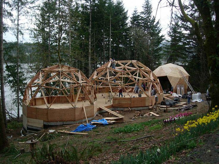 Dome house 40 pinterest - Casas de madera y mas com ...